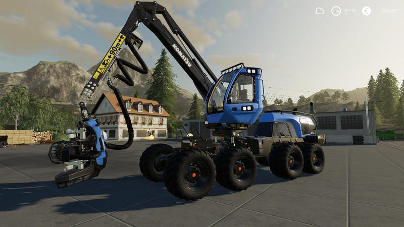 Komatsu 931 XC Nerd MP v1 0 FS19 - Farming Simulator 19 Mod