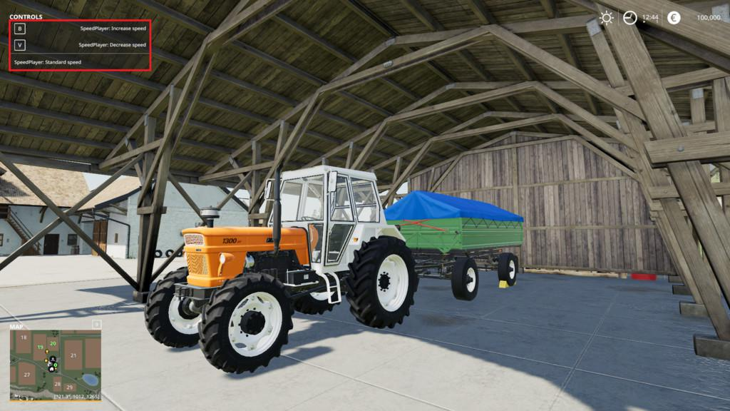 Player Speed v1 1 0 0 FS19 - Farming Simulator 19 Mod | FS19 mod
