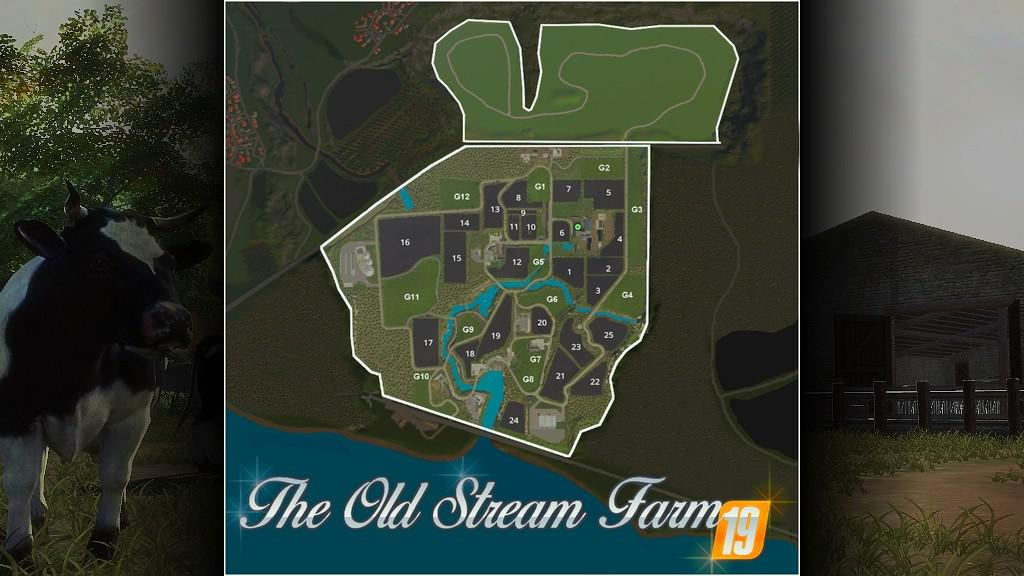 The Old Stream Farm v1 2 0 0 FS19 - Farming Simulator 19 Mod