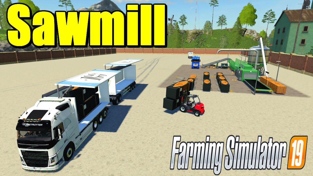 System-Tec Sawmill v1 0 0 1 FS19 - Farming Simulator 19 Mod