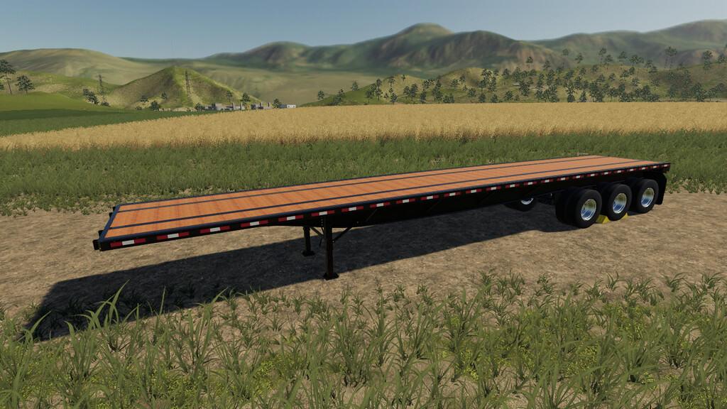 Flatbed Trailer Ibm Jmt19 V1 0 Fs19 Farming Simulator 19 Mod Fs19 Mod