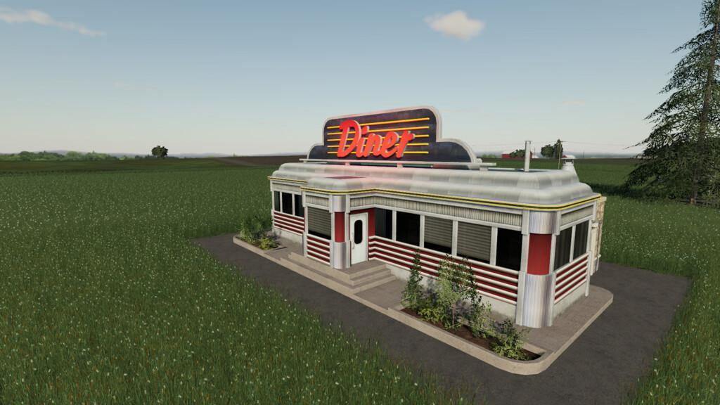 Vintage Diner V1 0 Fs19 Farming Simulator 19 Mod Fs19 Mod
