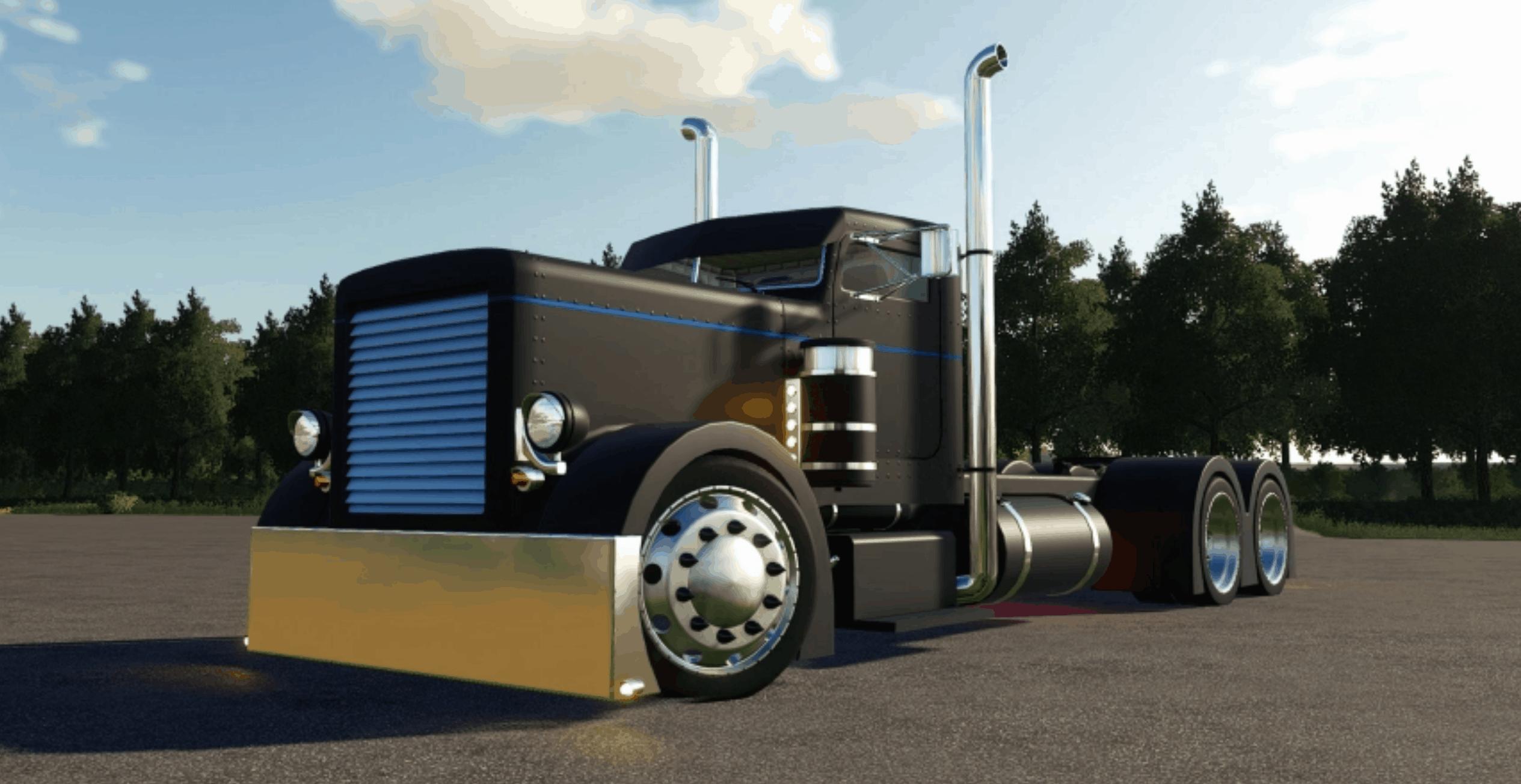 Custom Peterbilt 379 Truck V1 0 Fs19 Farming Simulator 19 Mod Fs19 Mod